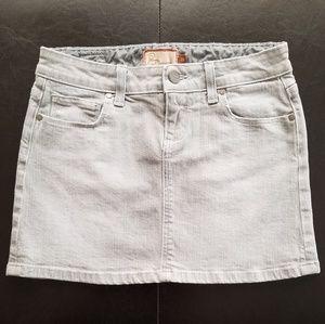 Paige Grey Demin Mini Skirt